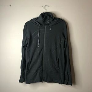 Lululemon stride jacket sweater black with hood 12